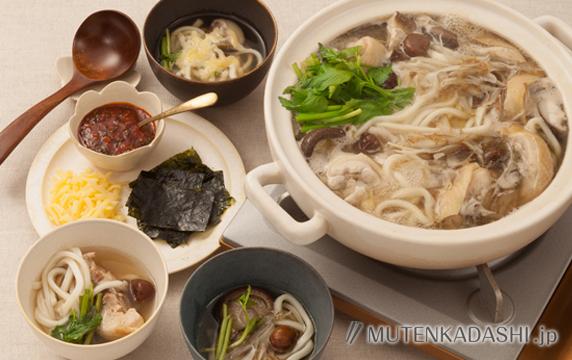 参鶏湯(サムゲタン)風うどん鍋