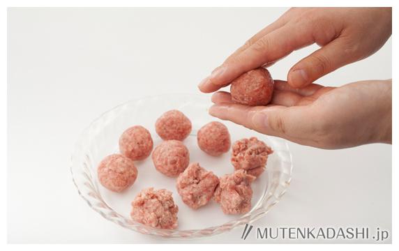 ミートボールのトマトクリーム煮 ポイント写真2
