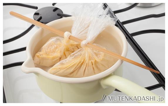 豆腐とたらこのオムレツ ポイント写真2