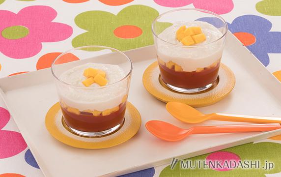 豆腐クリームとトマト寒天のパフェ