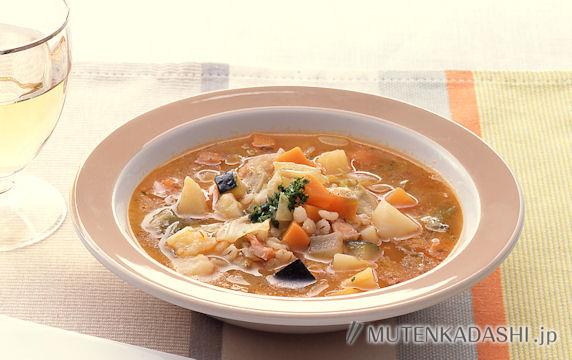 大麦と野菜のトマトスープ