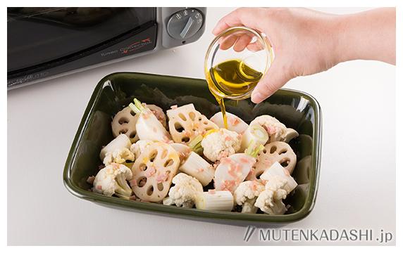 白い野菜のガーリック焼き ポイント写真2