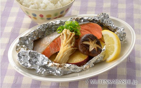 秋鮭とさつまいものホイル焼き