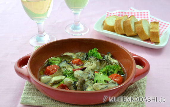 かきと野菜のアヒージョ
