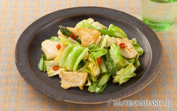 豆腐と野菜のペペロンチーノ炒め