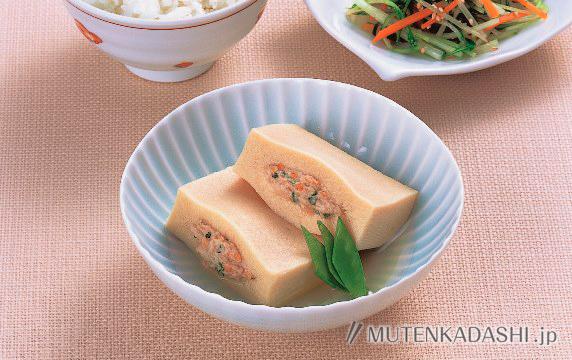 高野豆腐のひき肉詰め