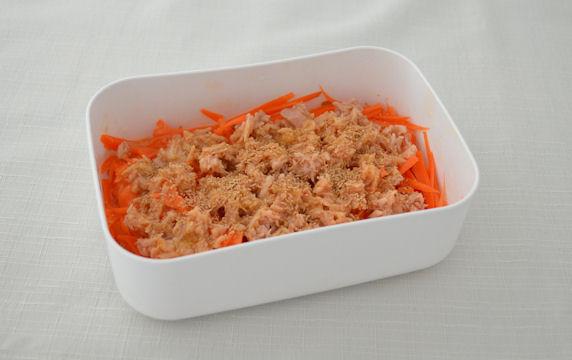 [レンジで常備菜]にんじんしりしり ポイント写真1