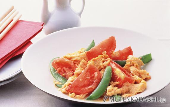 トマトとえんどうのたまご炒め